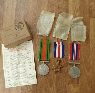 £16.67 • Buy WW2  Defence Medal,France And German Star And War Medal.Original Box And Paper