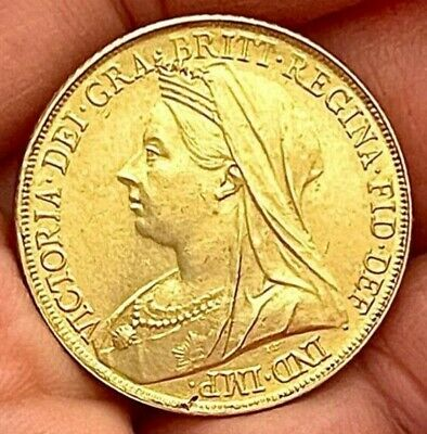 £2 • Buy 1899 Queen Victoria Old Head Sovereign ~ Gold Plated Coin