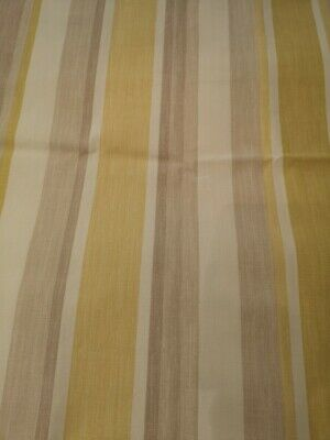 £34.99 • Buy Price Per Metre Laura Ashley Awning Stripe Camomile Curtain Fabric / Material