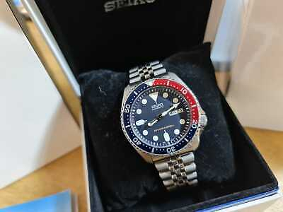 $ CDN401.13 • Buy Seiko SKX009 K Watch Boxed + Papers, Pepsi On Jubilee Strap EXCELLENT Condition