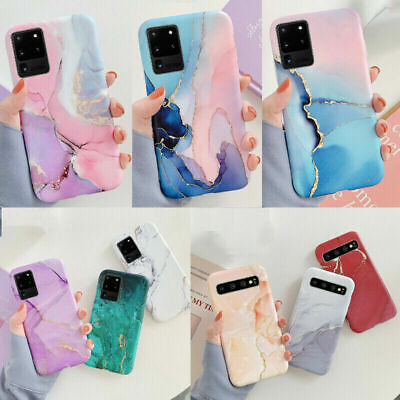 AU6.99 • Buy Watercolor Marble Soft Rubber Case Cover For Samsung S21 S20 Ultra S10 S9 S8+
