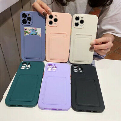 AU4.39 • Buy Phone Case With Card Slot Holder Shockproof For IPhone 12 11 Pro Max Mini XS XR