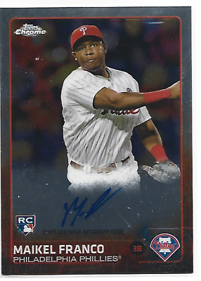 $1.79 • Buy 2015 Topps Chrome Rookie Autographs ARMFO Maikel Franco Phillies Royals Orioles