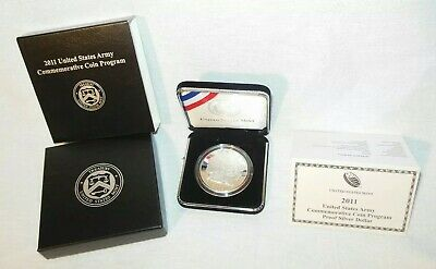 $50 • Buy US Army Silver Dollar Coin 2011 W/ Box COA 90% United States $1 Military MINT