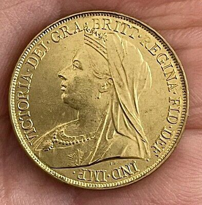 £1.96 • Buy 1900 Queen Victoria Old Head Sovereign ~ Gold Plated Coin