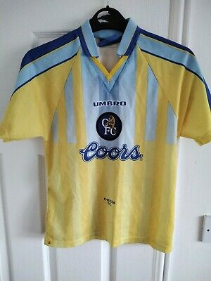 £19.99 • Buy Chelsea Coors Away Shirt 1997 LB Size Large Boys Multiple Signatures