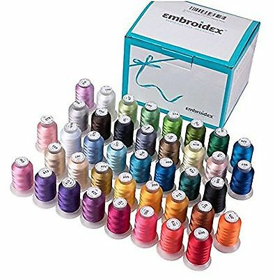 $0.99 • Buy 40 Spools Stunning Bright Brother Colors Polyester Embroidery Machine Thread