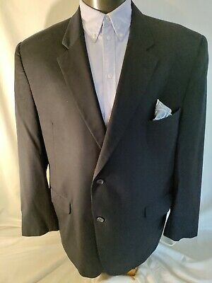 $59.99 • Buy Jack Victor Collection Valuto CVT Navy Blue Two Button 100% Wool Suit Jacket 48R