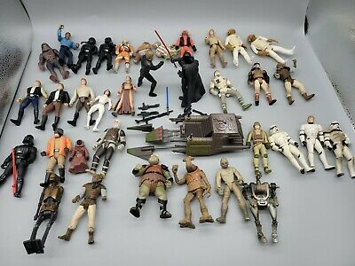 $ CDN1.57 • Buy Vintage 1990s Star Wars Kenner Action Figures Collectible Toy Lot With Ship
