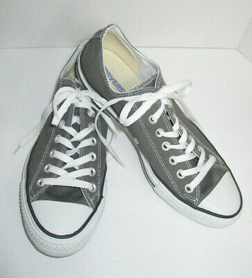 $17.99 • Buy Converse All Stars Unisex Mens 9 Womens 11 Charcoal Gray Sneakers Athletic Shoes