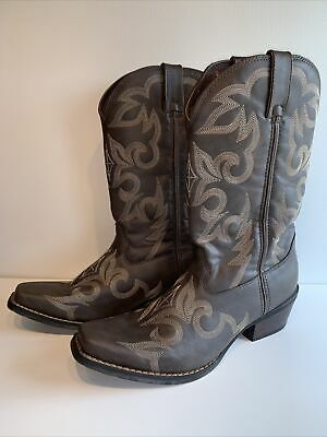 $79.99 • Buy DURANGO DDB0088 Brown Leather Snip Toe Western Cowboy Boots Mens Size 8.5M