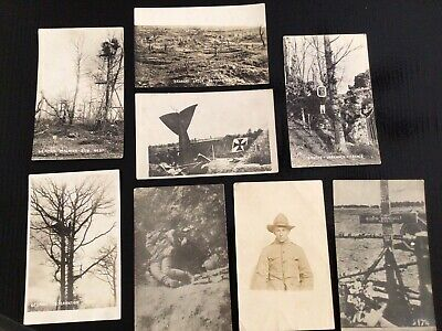 $15 • Buy Lot Of 8 WWI Black And White Photo Postcards