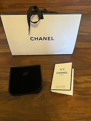 £8.50 • Buy Chanel No 5 Sample With Velvet Chanel Pouch And Giftbag