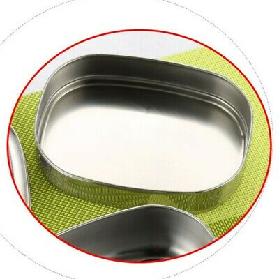 AU23.85 • Buy Stainless Thermo Insulated Thermal Food Container Bento Round Lunch Box 2 Layer