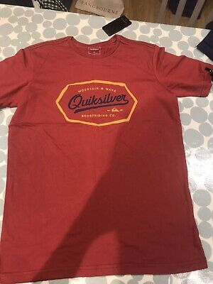 £4.60 • Buy Red Quicksilver T Shirt