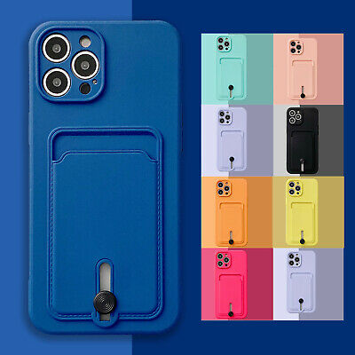 AU6.99 • Buy For IPhone 12 Pro Max 11 XS XR 8 7 SE2 Case Slim Rubber Wallet Card Holder Cover