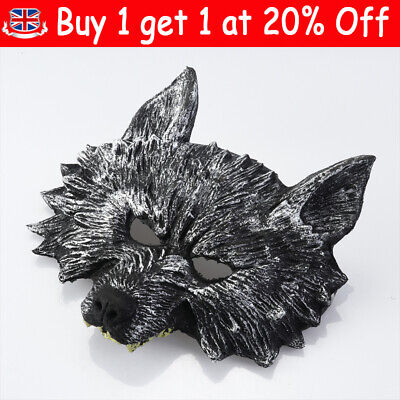 £7.23 • Buy Halloween Scary Festival Wolf Masks Head Rubber Cosplay Party Mask Kids Adult UK