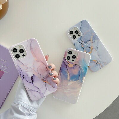 AU4.73 • Buy For IPhone 12 11 Pro Max XR XS 8 7 Plus Matte Marble Silicone Soft Case Cover