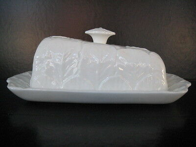 £139.99 • Buy Coalport Countryware Wedge Shape Cheese Butter Dish White China Wedgwood Cabbage