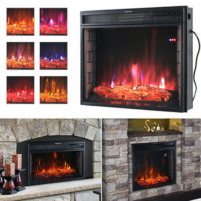 £155.95 • Buy Digital Frame Electric Fireplace 24/28 Inch Insert Surround Stove Wall Mounted