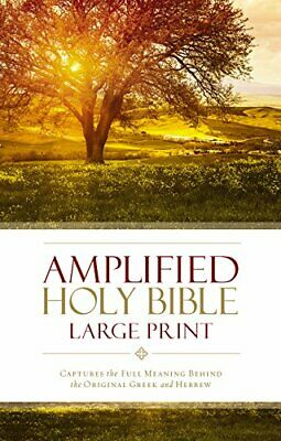 £25.17 • Buy Amplified Holy Bible Large Print Hardcover: Captures The Full Meaning Behind The
