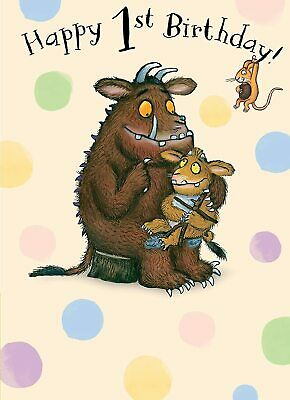 £2.75 • Buy The Gruffalo Happy 1st Birthday Greeting Card With Envelope Child