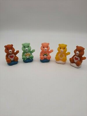 £8.19 • Buy 5 Vintage Care Bears TCFC Figures Cake Toppers Plastic On Cloud  2  Tall