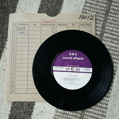 £4.99 • Buy Vintage BBC Sound Effects Vinyl Various Water Stream Sounds