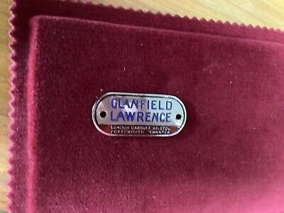 £90 • Buy Glanfield Lawrence London Cardiff Bristol Portsmouth Suppliers Dashboard Badge