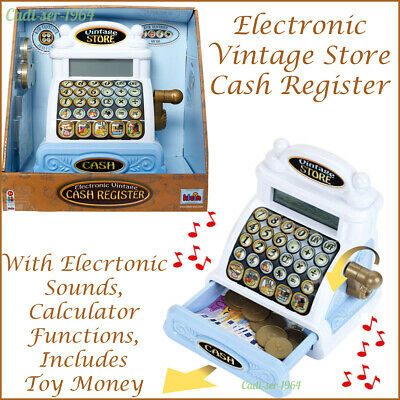 £24.99 • Buy Electronic Vintage Toy Cash Register Till Play Money & Sounds Theo Klein Toys