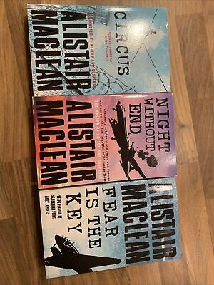 £3 • Buy Night Without End, Fear Is The Key, Circus. X3 Alistair McLean Paperback Books
