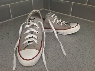 £11.50 • Buy Converse All Star Trainers Size 4 Uk, 36.5 Eu, Grey Suede Leather.