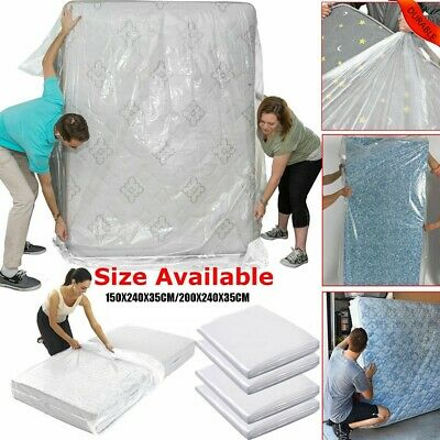 AU19.79 • Buy Transparent Single Double Bed  Mattress Bag Dust  Protector Storage Covers