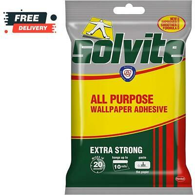 £6.99 • Buy Solvite All Purpose Wallpaper Paste Strong Adhesive Easy Mix Wallpaper 10R NEW!!