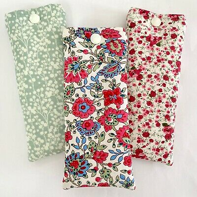 £4.10 • Buy Glasses Case Pouch Handmade | Floral Flowered Fabric | Padded Soft Case