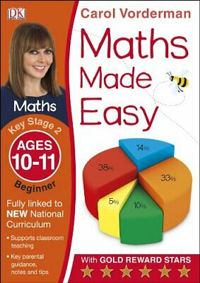 £4.65 • Buy Maths Made Easy Ages 10-11 Key Stage 2 Beginner (Mad By Carol Vorderman New Book