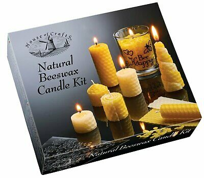 £15.48 • Buy Make Your Own Candles Natural Beeswax Candle Making Kit Craft Activity Education