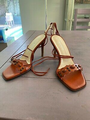 £13.83 • Buy El Dantes Rust Color Leather High Heels Sandals Size 36 Made In Spain