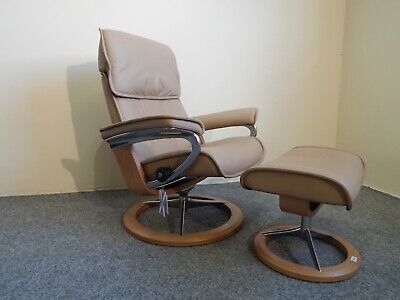 £745 • Buy Ekornes Stressless 'Admiral' Leather Recliner/stool Signature Base Size M (361)