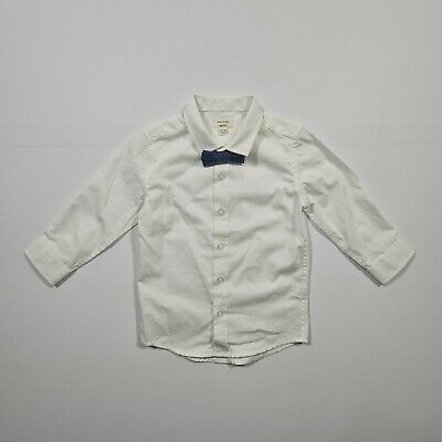 £7.99 • Buy River Island Toddler Baby White Long Sleeves Shirt & Bow Tie Set 12- 18 Months