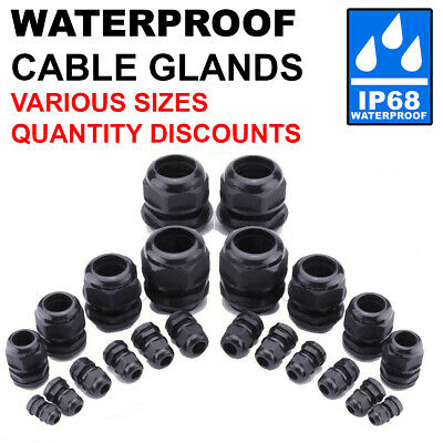 £2.97 • Buy Cable Gland Ip68 Waterproof Black Nylon Compression M8/1012/16/18/20/22/25/32