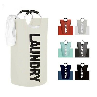 £9.49 • Buy Collapsible Fabric Laundry Hamper, Foldable Clothes Bag, Washing Bin Basket