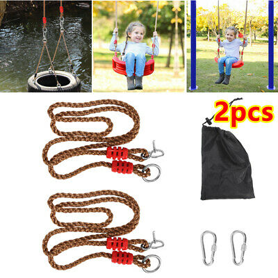 £9.98 • Buy 2x Tree Swing Conversion Extension Rope Fixes A Swing To A Branch Or Wooden Pole