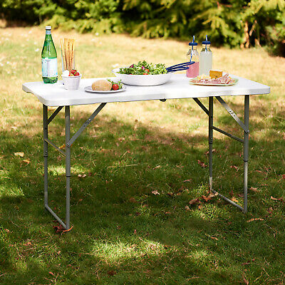 £19.99 • Buy 4ft Folding Table Camping Garden Fold Away Dining Serving Tables Buffet Car Boot