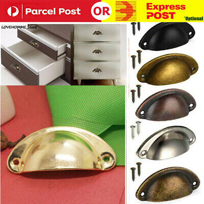 AU9.99 • Buy 6-12X Cupboard Door Cabinet Cup Drawer Furniture Retro Antique Pull Shell Handle