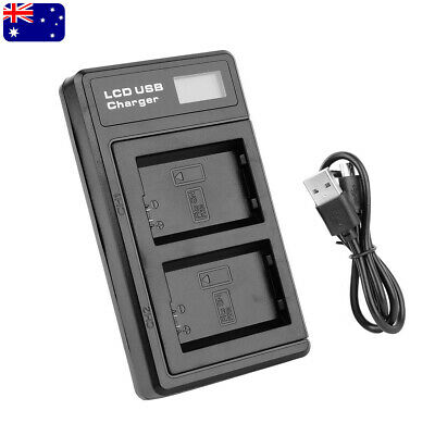 AU18.98 • Buy LCD Dual Battery Charger With Cable For Sony NP-FW50 A6300 A6500 A7 II A7R NEX-5