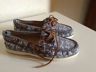£14.99 • Buy NEW Sperry Top Sider Boat Shoes Grey And White Size UK 4.5/ US 7
