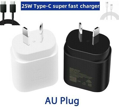 AU15.80 • Buy 25W SUPER FAST Charging PD Wall Charger For Samsung S21, NOTE 20 ULTRA AU Plug