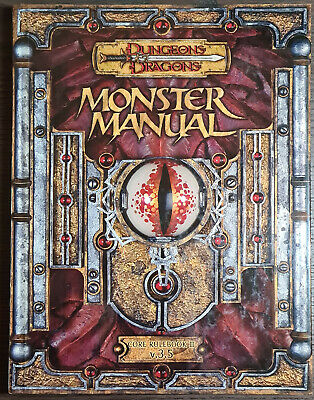 AU60 • Buy Dungeons And Dragons 3.5 Monster Manual Core Rulebook D&D Great Condition