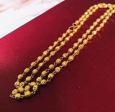 £11.50 • Buy Indian Pakistani 22 Ct Gold Plated Long Necklace Chain